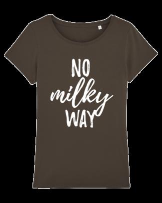 No Milky Way dames vegan tshirt chocolade