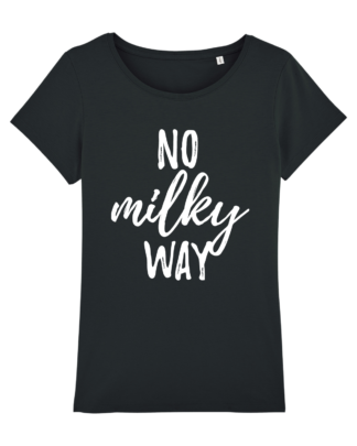 No Milky Way - vegan tshirt dames zwart
