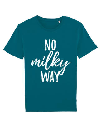 No Milky Way - vegan tshirt heren ocean depth